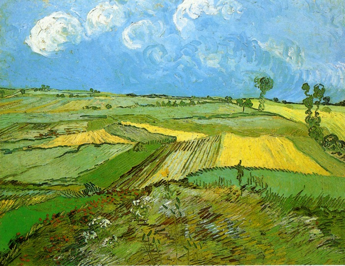 Wheat Fields at Auvers Under Clouded Sky - Van Gogh